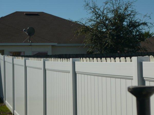 Professional Installed Vinyl Fence