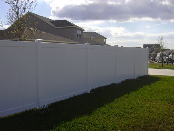 Professional Installed Vinyl Fence