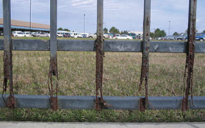 rusted Ornamental Aluminum and Steel Fencing