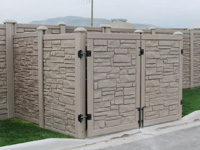 Light color stone wall
