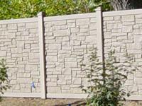 Cream color stone wall